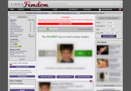 Review of kinky dating site Findafemdom.com|Everyones Kinky